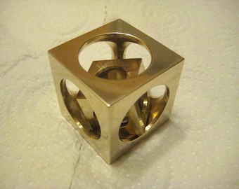 SALE: Bronze cube in a cube from Engineer BrunS