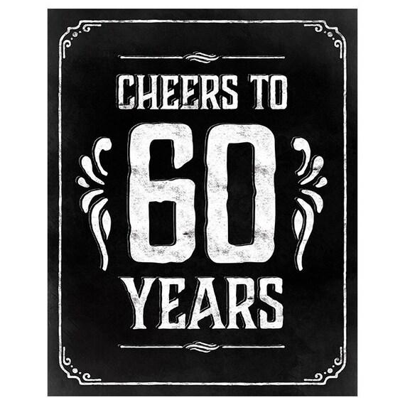 60th Birthday Decorations Printable Poster