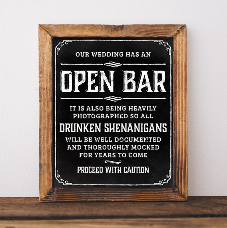 Chalkboard Wedding Signs.Chalkboard Wedding Signs Printable Open Bar Wedding Sign Open Bar Sign Bar Sign For Wedding Wedding Open Bar Rustic Chalkboard Poster