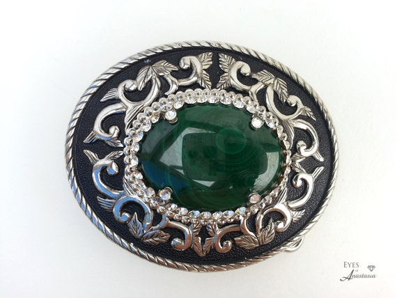 Western Style Vintage Accessories Cowboy Belt Buckles Silver/&Green