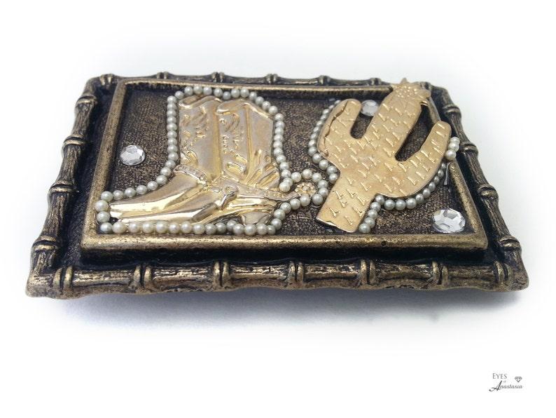 c06c22f172d096 Kaktus-Gürtelschnalle Cowboy-Stiefel kostenlose Versand Square | Etsy