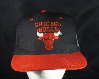 Vintage Chicago Bulls AJD snapback hat OSFM