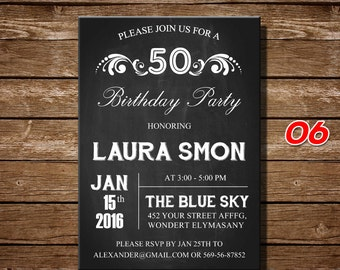 50th Birthday Gifts For Women Invitation Gift Men 30th 40th 60th70th Any Age6