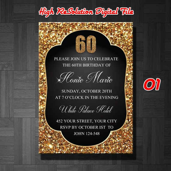 60th birthday invitation male 60th birthday invitation60th etsy image 0 filmwisefo