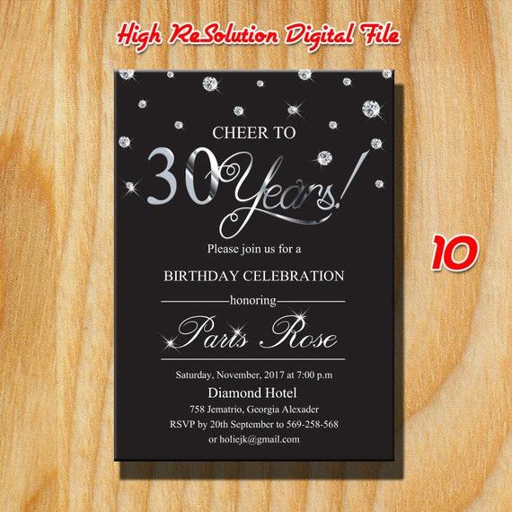 30 Geburtstag Fur Manner Einladung 30 Geburtstag 30 Etsy