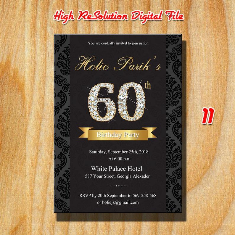 60th Birthday Decoration Invitation60th Gifts