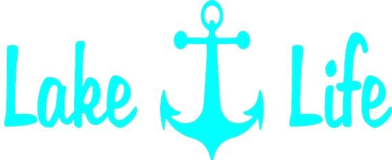 Lake Life,Fishing,Angler,Fishing Life,Lake Life,Trolling,Sticker,Vinyl Decals