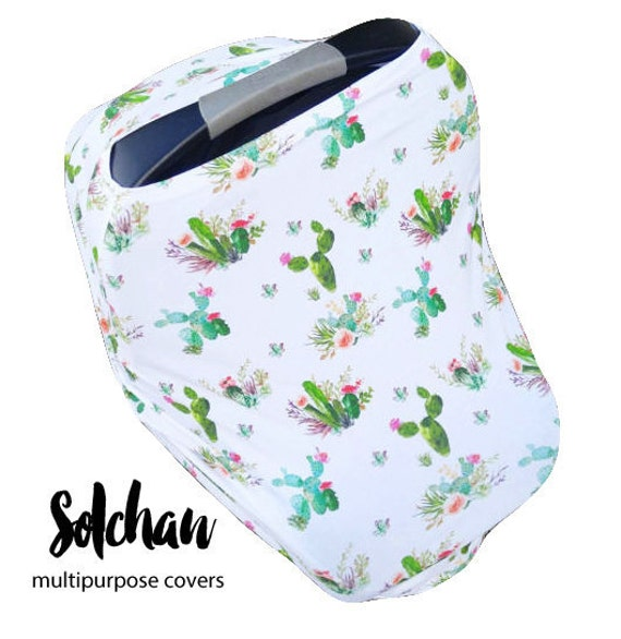 Awesome Car Seat Cover Nursing Cover By Solchan Stretchy Car Seat Cover Boy Girl Cactus Cacti Compare To Milk Snob Gmtry Best Dining Table And Chair Ideas Images Gmtryco