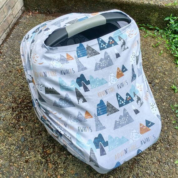 Outstanding Car Seat Cover Nursing Cover Cart Cover Multiuse Stretch Baby Carseat Cover Boy Girl Wild Adventure Baby Compare To Milk Snob Bralicious Painted Fabric Chair Ideas Braliciousco