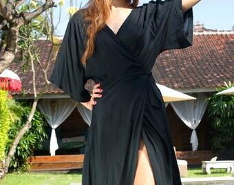 SALE! Maxi Wrap Dress/Summer wrap dress/Wrap Kimono style dress/Beach wear/Beach dress * MIMI Wrap DRESS