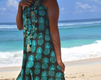 Beach sarongs/Beach towel/summer Scarf/Tassels pareos/Beach cover up/beach wraps/Bohemian beach sarong/Beach wear * PINEAPPLE BEACH SARONG