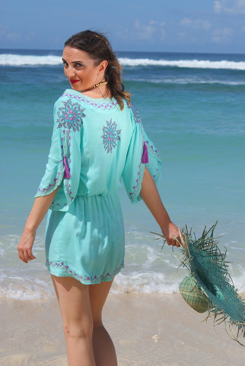 ffdaf68370 SALE Playsuit Embroidered Beach playsuit Bohoemian
