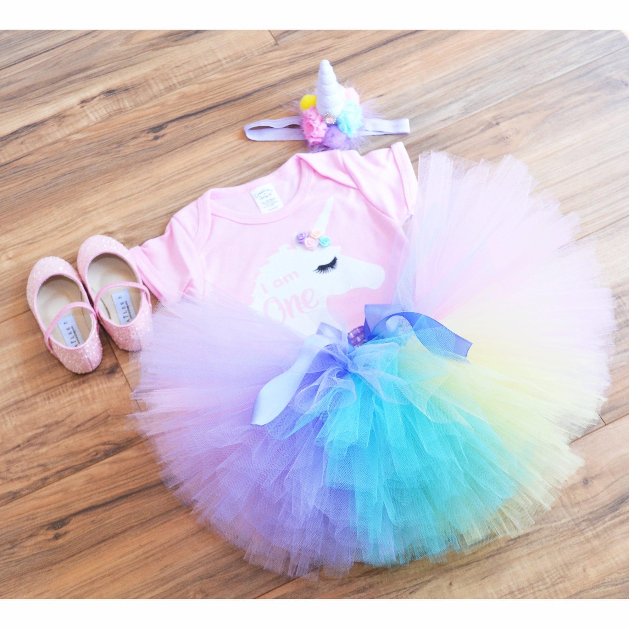 unicorn first birthday outfit extra fluffy unicorn tutu
