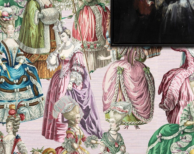 Marie Antoinette wallpaper, 18th century french ladies wallpaper, old fashioned ladies wallpaper, Antoinette wallpaper