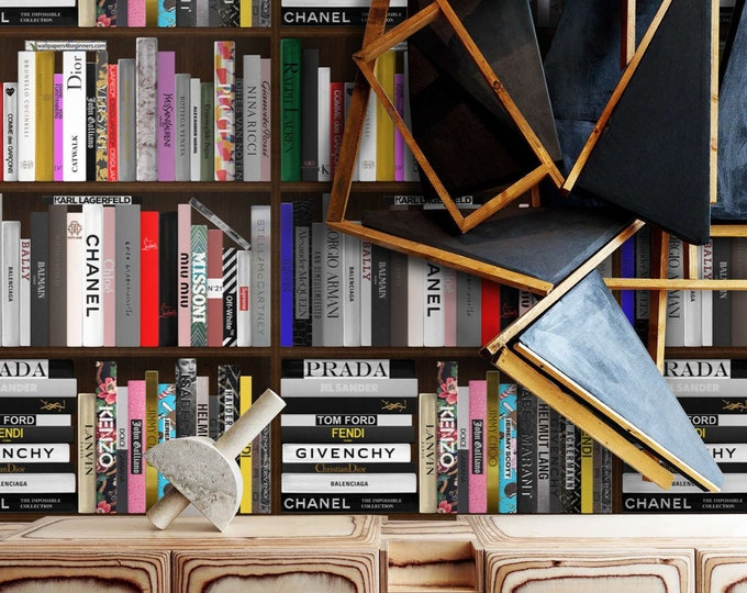 Fashion books wallpaper, books library wallpaper, bookshelf wallpaper, fashion bookshelf, book wallpaper