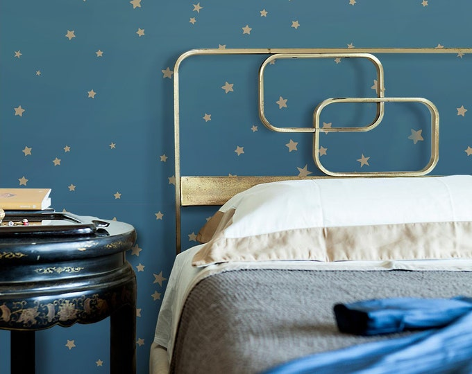 Stars wallpaper, nursery wallpaper, Stars wall decor, stars, gold stars wall decor, metal stars wall decor