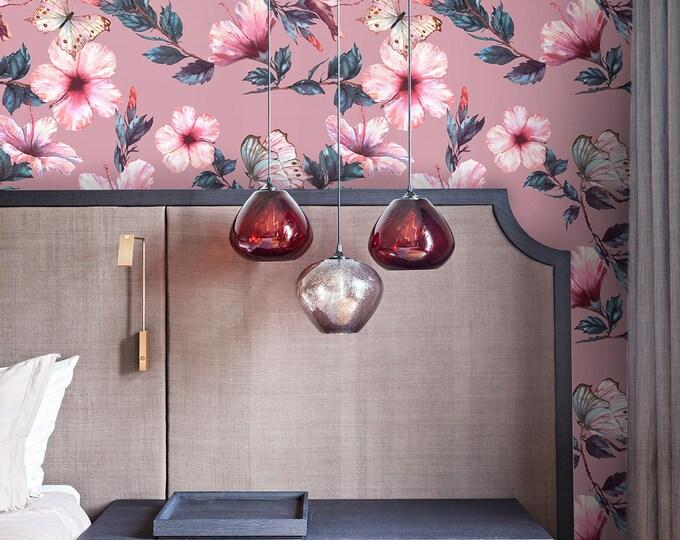 Japanese wallpaper, japanese, wallpaper, flowers, removable wallpaper, floral wallpaper, botanical wallpaper, asian wallpaper, vintage paper