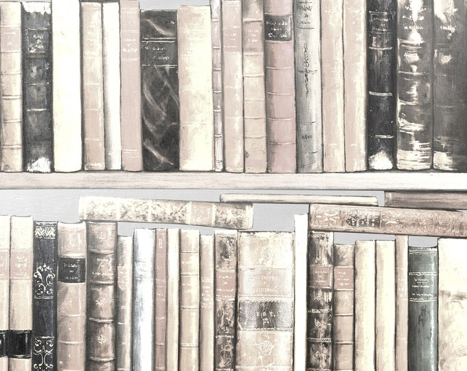 Old Book Wallpaper Mural, Home Office Decor, Vintage Wall Paper