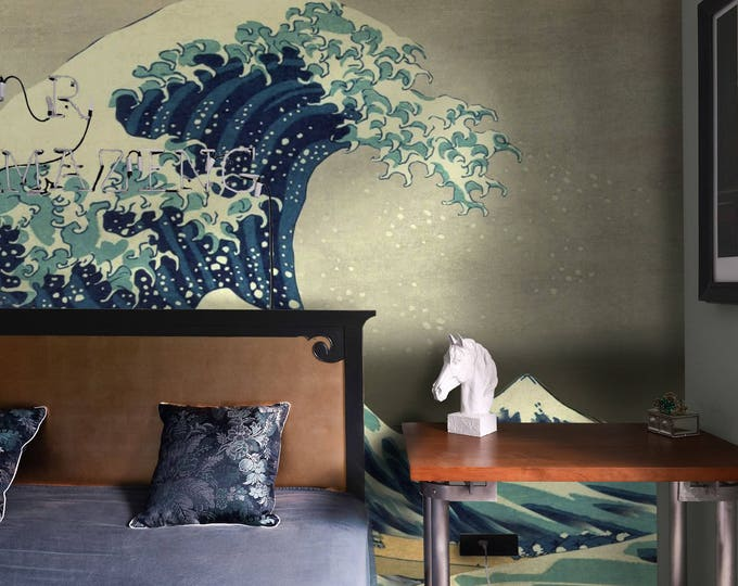 The Great Wave Off Kanagawa, Asian Wallpaper, Wall Mural