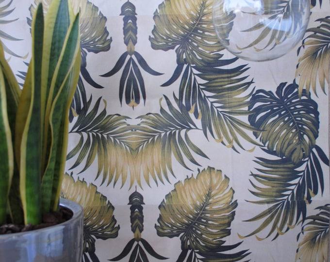 Vintage Tropical Wallpaper, Tropical Wallpaper, Tropical print, Exotic wallpaper, tropical leaves, wall, watercolor wallpaper