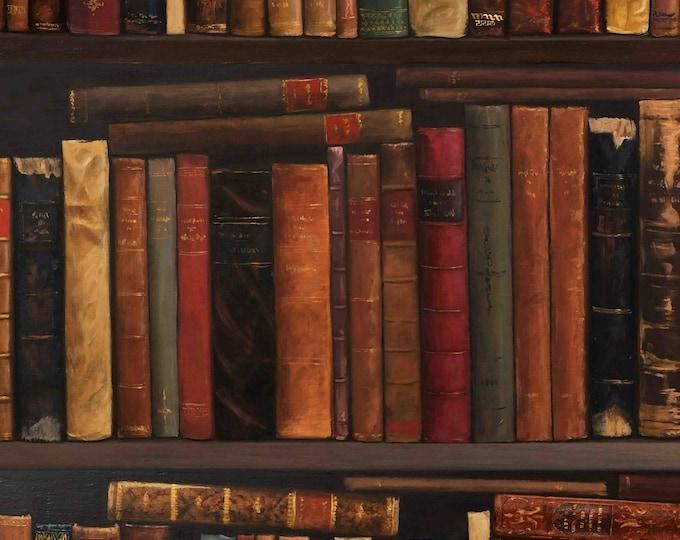 Books wallpaper, Bookshelf wallpaper, books library wallpaper, old books wallpaper, Book Wallpaper, Muriva Books, vintage wallpaper,