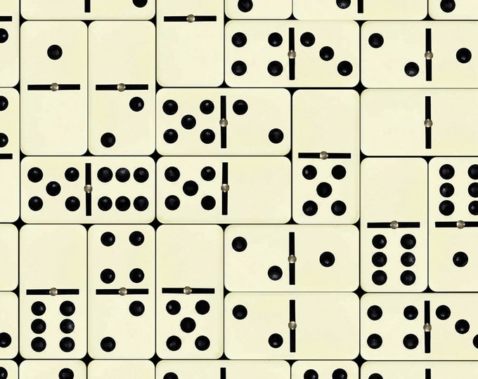 Black and White Wallpaper, Dominoes, Modern House Decor, Unique Wall Paper