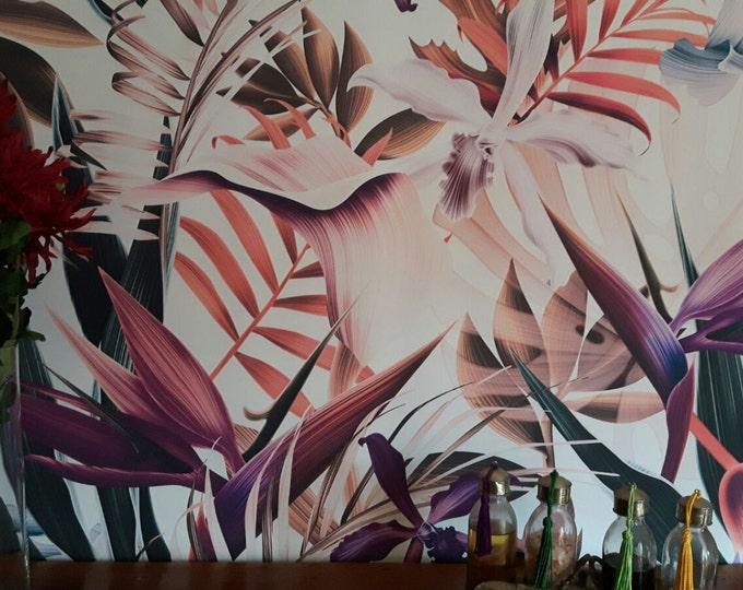 Tropical Wallpaper, Flower Wallpaper, Floral Wallpaper