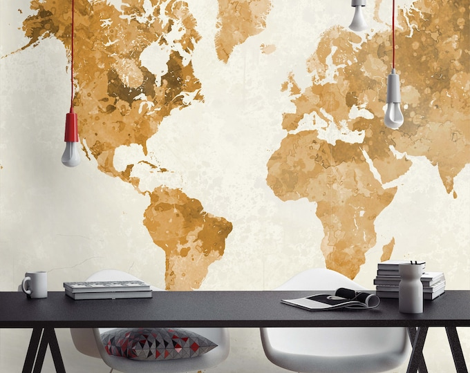 World Map Wallpaper, planisphere, wallpaper, vintage map, map, old map, antique map, world, vintage, globe, custom globe, world globe,