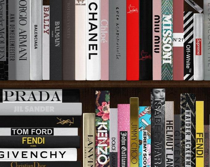 Bookshelf Wallpaper, Fashion Wall Art Deco for Feature Wall, DIY Wallpaper, Office Wall Décor