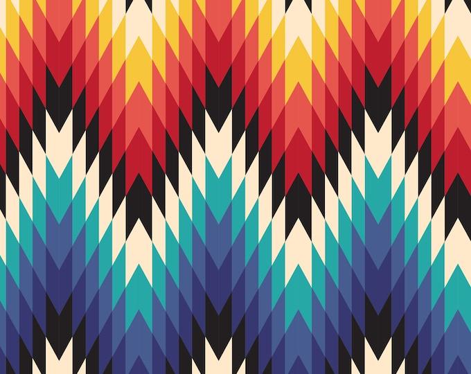 Aztec Print, Colorful Wallpaper, Geometric Wallpaper, Tribal Wallpaper, Retro Home Décor