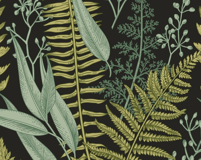 Botanical Green Leaves Wallpaper