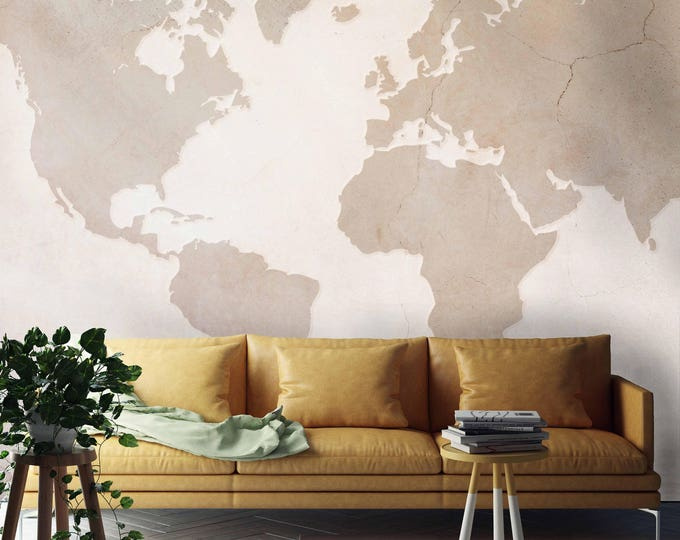 World map wallpaper, world map, map, vintage map, world map wall art, map mural, vintage world map, world map tapestry, world map art, world