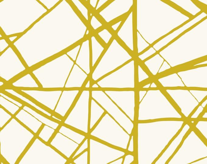 Gold Wallpaper, Modern Home Décor, Geometric Print, Art Deco Wallpaper