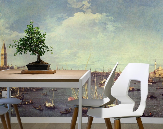 Venice wallpaper, Old venice mural, Renaissance print,  sticker wall, Renaissance wall art, Renaissancewall decal, wall, large wall art