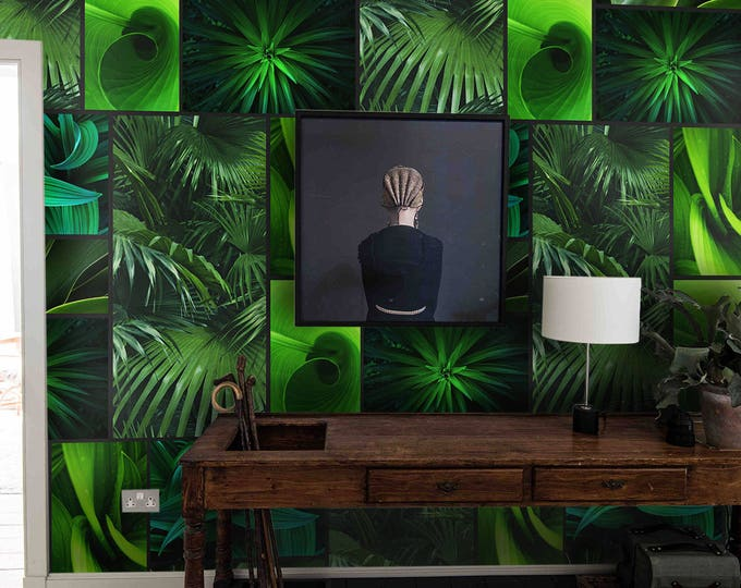 Tropical wallpaper, tropical, tropical leaf, tropical plants, tropical art, tropical decor, tropical wall art, tropical leaves, botanical
