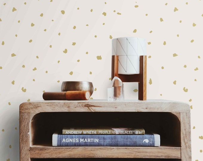 Gold dots wallpaper, wallpaper, Polka Dot in Gold, dot wallpaper, dots wallpaper, anthropologie Wallpaper, gold wallpaper, polka dot