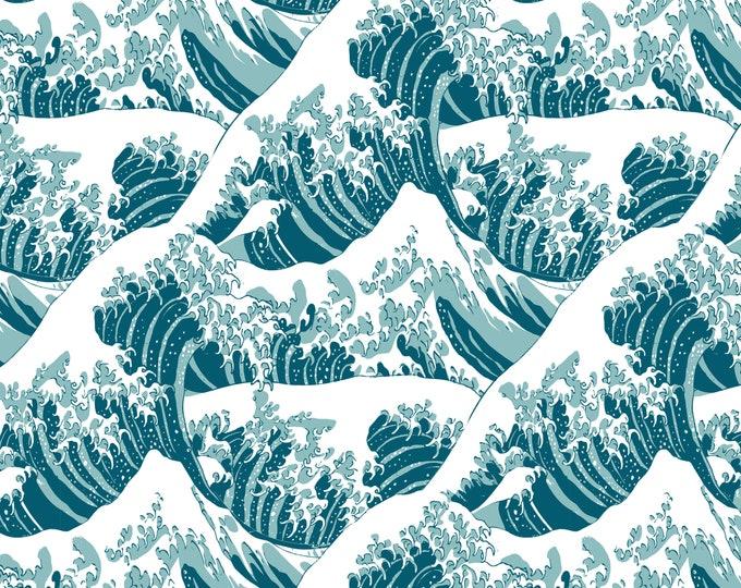 Hokusai Japanese Inspired Print, Kanagawa Wave, Wallpaper Mural, Feng Shui Décor