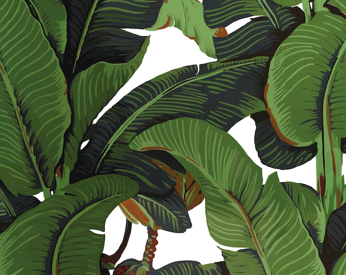 Banana Leaf Print Tropical Wallpaper