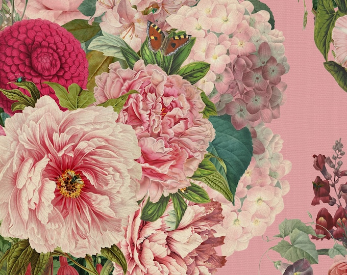 Bedroom Wall Decor, Floral Wallpaper for Accent Wall in Baby Girl Nursery
