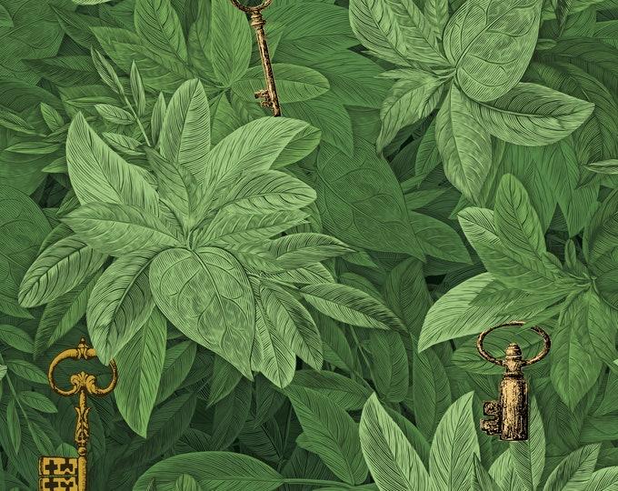 Fern Wallpaper, Botanical Wall Paper, Nature Inspired Room Decor, DIY Wallpaper, Vintage Wallpaper