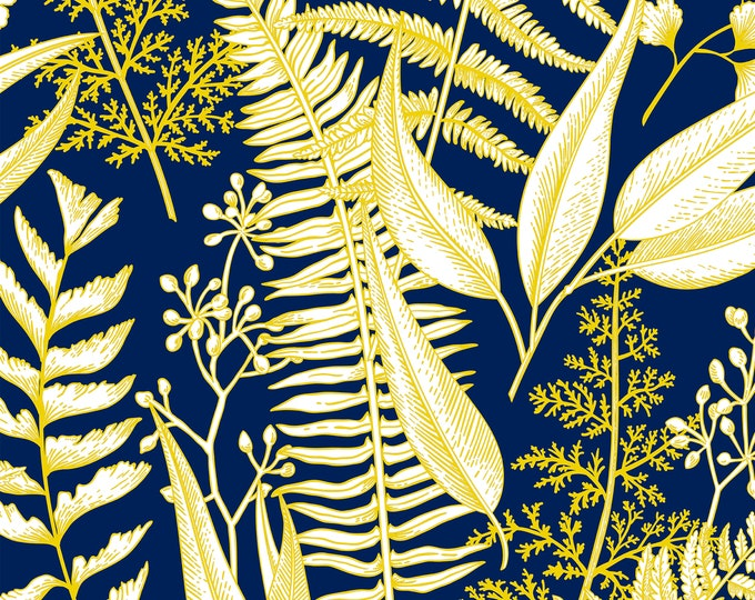 Fern Wallpaper, Botanical Print, Bohemian Home Décor, Customizable Wall Paper