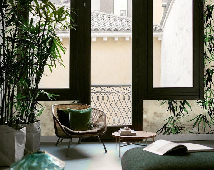 Bamboo Wallpaper, Oriental Bamboo, tropical wallpaper, chinoiserie, wallpaper, removable wallpaper, tropical forest, bamboo, tree wallpaper