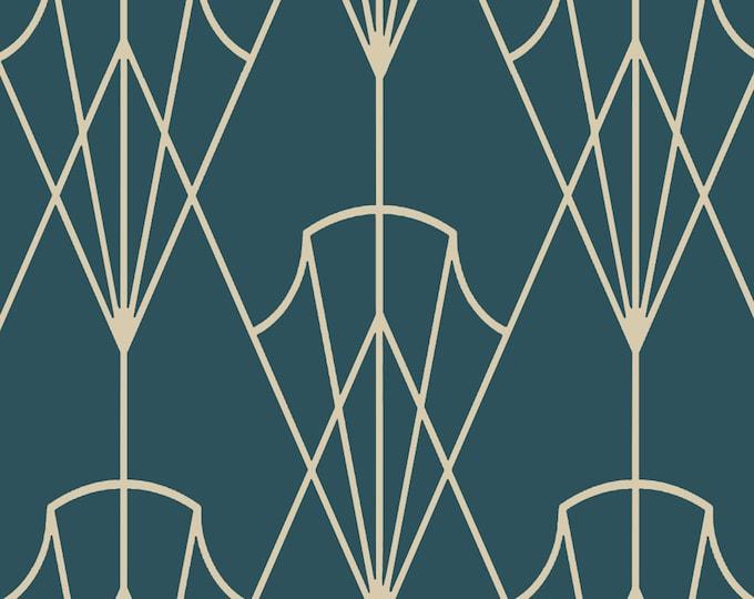 1930s Art Deco Wallpaper, Geometric Print, Mid Century Wall Art, Vintage Décor