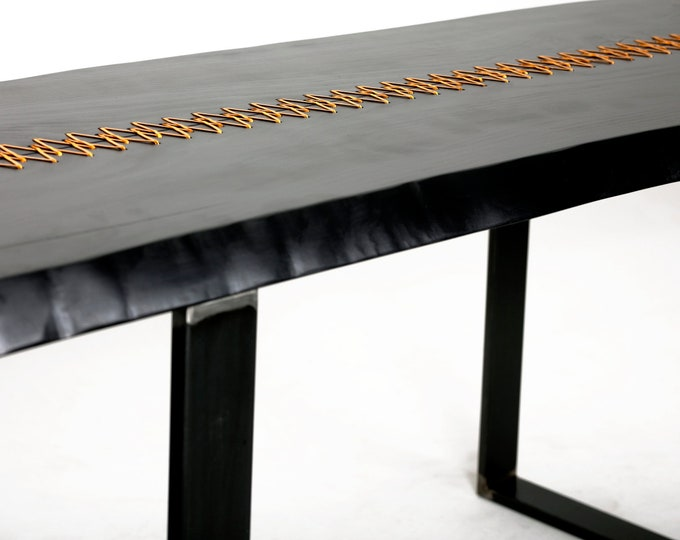 Modern Industrial Table, Industrial Furniture, industrial dining table, Rustic Home Decor, Gold Stitched Table, Tailor made Table