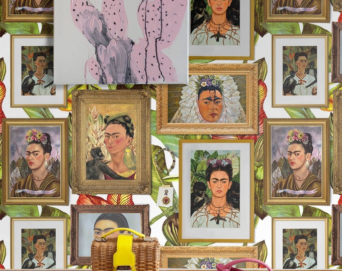 Frida Kahlo wallpaper, Frida Kahlo, Frida Kahlo art, Frida wall art, Frida wall decor