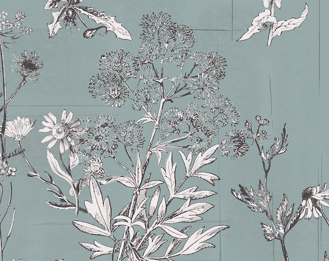 Victorian Wallpaper, Floral Print, Country Home Décor