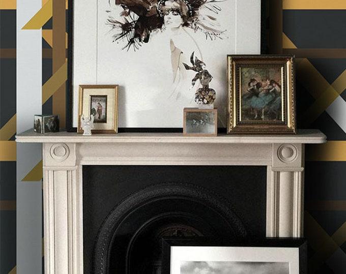 Scandinavian style, scandinavian wallpaper, wallpaper, removable wallpaper, temporary wallpaper, geometric, wall mural, wall decor, vintage