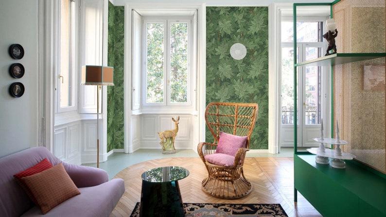 Geheime Schlüssel Tapete, Tapete, Wand-Kunst, Küche Dekor, Küche Wand  Dekor, Wand-Dekor, grüne Wand Papier, grüne Tapete, Fornasetti