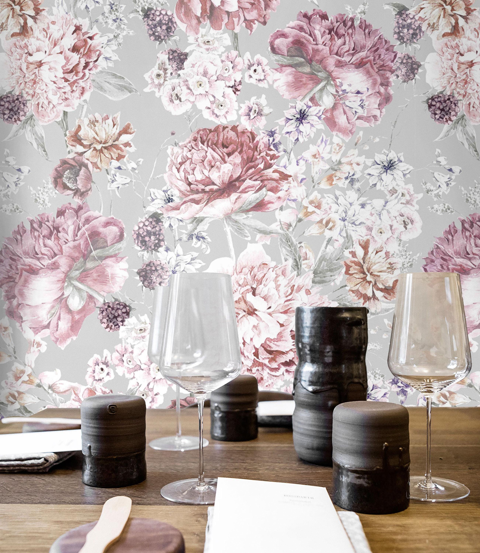 Custom Floral Wallpaper Nursery Wallpaper Floral Wallpaper