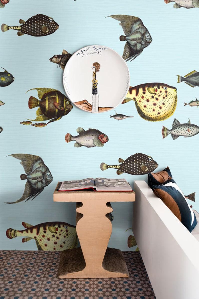 Fish Wallpaper Tropical Fish Wallpaper Fishes Wallpaper Sea Etsy